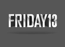 Friday 13. Vector sign. Friday 13. Vector inscription on dark background Royalty Free Stock Image