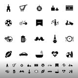 Friday and weekend icons on white background Royalty Free Stock Photo
