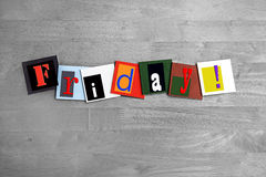 Friday - weekend at last! Royalty Free Stock Photography