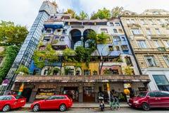 fridensraihhundertwasserhundertwasserhaus vienna fotografering för bildbyråer