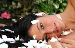 fridfull kvinna för härlig bild Royaltyfri Fotografi