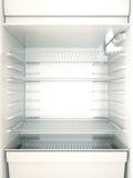 Fridge. Empty fridge interior. 3D render Royalty Free Stock Photos