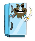 Fridge cartoon Royalty Free Stock Image
