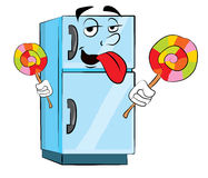 Fridge cartoon Stock Images