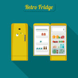 Fridge closed and open. Royalty Free Stock Photo