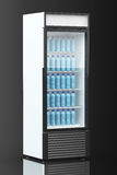 Fridge Drink with water bottles. On a black background Royalty Free Stock Photography