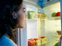 Fridge with food Stock Photos