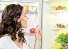 Fridge with food Stock Image