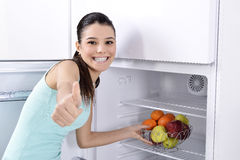 Fridge with fruit Royalty Free Stock Images
