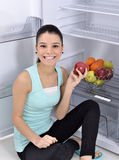 Fridge with fruit Royalty Free Stock Image