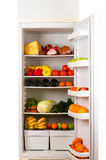 Fridge full of food Stock Photography