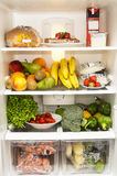 Fridge. Full of healthy products Stock Photos