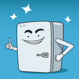 Fridge illustrated character Royalty Free Stock Photo