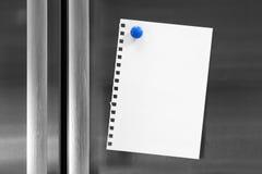 fridge magnesu notatka Zdjęcie Stock