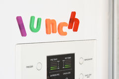 Fridge Magnets - Lunch Stock Image