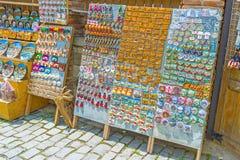 The fridge magnets in Mtskheta market Stock Image
