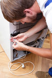 Fridge repairing closeup Royalty Free Stock Image