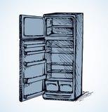 fridge rysuje tła trawy kwiecistego wektora Obraz Stock