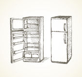 fridge rysuje tła trawy kwiecistego wektora Zdjęcie Stock
