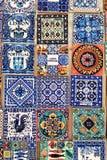 Fridge souvenir magnets imitating portuguese tiles. For sale stock photos