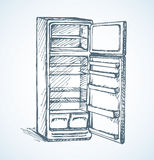 Fridge. Vector drawing Royalty Free Stock Photo