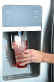 Fridge Water and Ice Dispenser Royalty Free Stock Photo