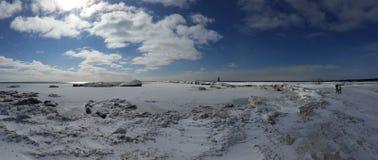 Fridged Lake Michigan Arkivfoton