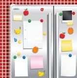 Fridgefreezer dörr med magneter vektor illustrationer