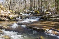 Fridsam Catskills ström i vår royaltyfri fotografi