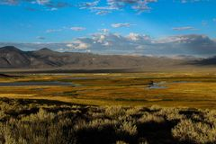 Fridsam eftermiddag i den Hot Springs dalen arkivbilder