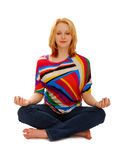 fridsam kvinna för meditation Royaltyfri Foto