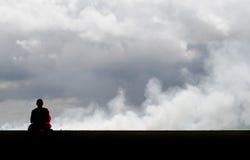 Fridsam meditation Fotografering för Bildbyråer