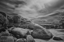 fridsam seascape för havparadis Arkivfoton