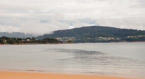 Fridsam seascape i Spanien Royaltyfria Foton
