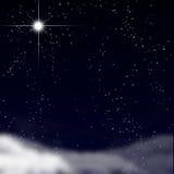 Fridsam sky med stjärnor Royaltyfri Fotografi
