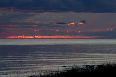 fridsam solnedgång för afton Arkivbilder