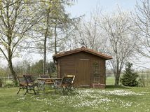 Fridsam summerhouse Royaltyfri Foto