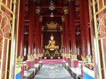 Fridsam tempel Thailand Arkivbild