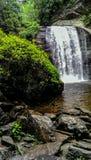 Fridsam vattenfall efter ett sommarregn i mitt av Amerika Royaltyfria Foton