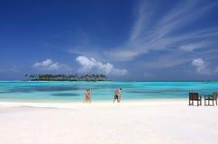 fridsamma maldives Arkivfoto