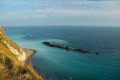 Fridsamt blått hav Fotografering för Bildbyråer