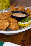 Fried alligator fingers Stock Image