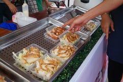 Fried alligator meat Stock Photo
