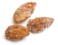 Fried almonds with sugar and cinnamon Stock Photo