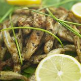 Fried anchovies Royalty Free Stock Photos