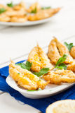 Fried Anchovies Stock Photos