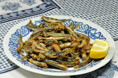Fried Anchovies Royalty Free Stock Photography