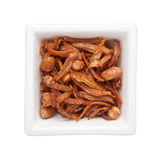 Fried anchovies and peanuts Stock Images