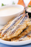 Fried Anchovy Royalty Free Stock Photos