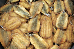 Fried anchovy. Mass of  fresh fried anchovy , cooked on European way Royalty Free Stock Photos
